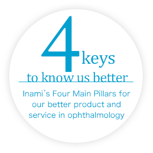 4keys to know us better Inami's Four Main Pillars for our better product and service in ophthalmology